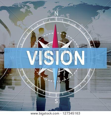 Vision Mission Aspiration Business Goals Concept