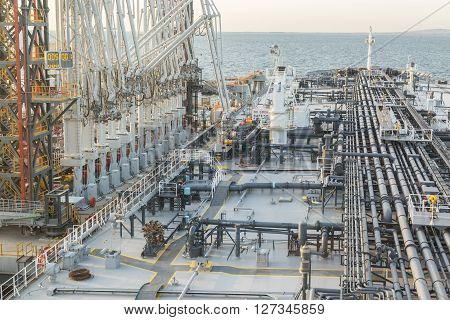 Tanker is discharging to the oil terminal in UAE