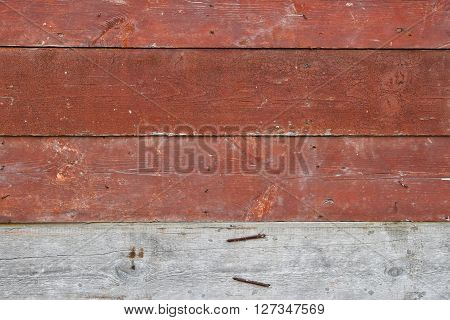 Red Vintage Painted Wooden Planks Panel