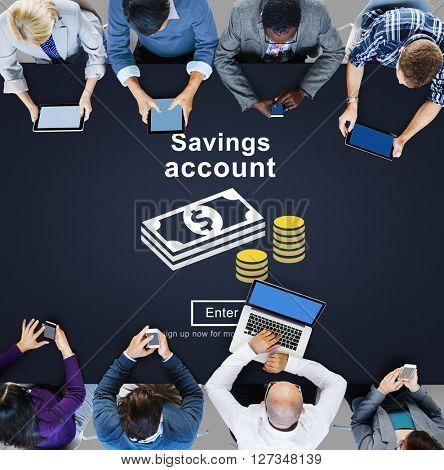 Savings Account Money Global Finance Concept