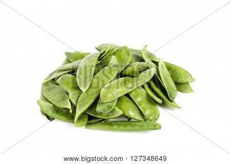 Vegetable. Green peas on a white background