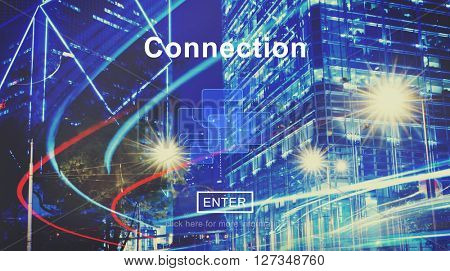 Connection Network Link Interconnection Digital Concept