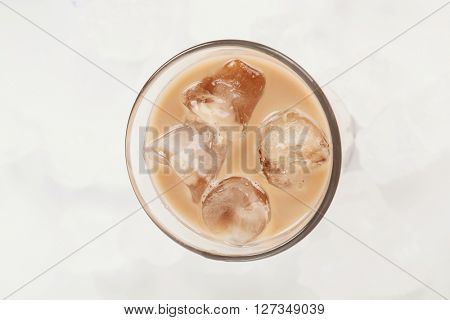Coffee, drink. Ice latte on the table