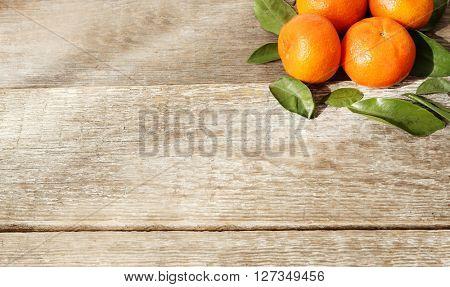 Food. Tangerine on the table