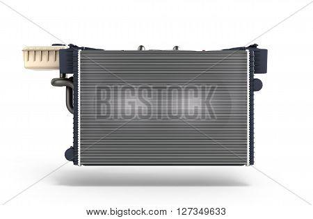 car radiator isolated on white background 3d render
