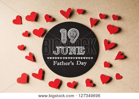 19 June Fathers Day Message With Small Hearts