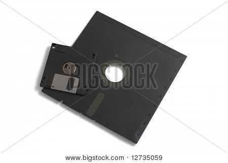two black floppies small and big