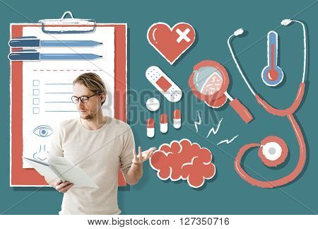 Diagnose Doctor Medicine Health Wellness Concept