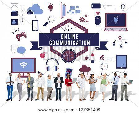 Online Communication Banner Graphics