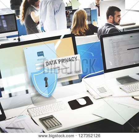 Data Privacy protection Policy Technology Legal Concept