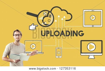 Upload Uploading Storage Cloud Devices Concept