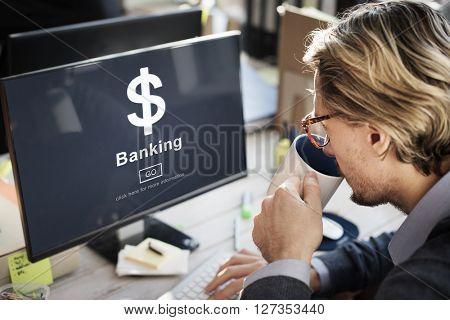 Dollar Sign Banking Finance Statement Concept