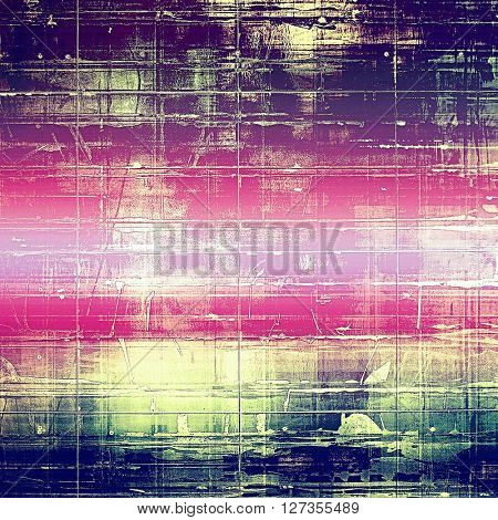 Distressed grunge texture, damaged vintage background with different color patterns: yellow (beige); blue; purple (violet); cyan; pink