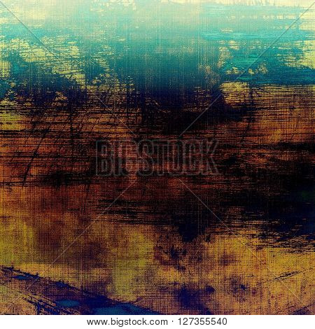 Old, grunge background or damaged texture in retro style. With different color patterns: yellow (beige); brown; green; blue; cyan; black