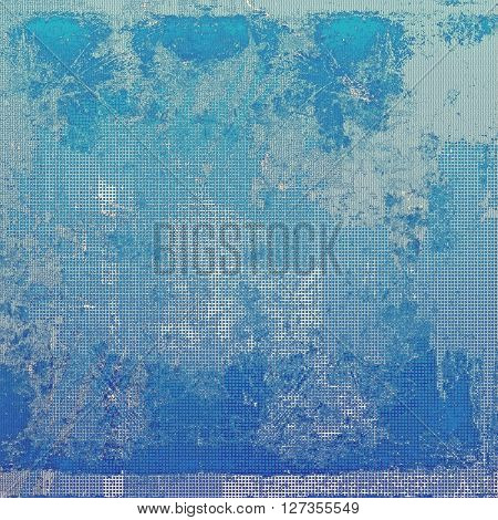 Vintage style shabby texture or background with classy grungy elements and different color patterns: blue; gray; cyan