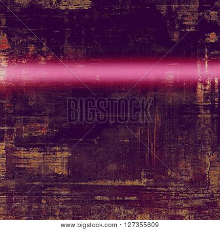 Oldest vintage background in grunge style. Ancient texture with different color patterns: yellow (beige); brown; purple (violet); pink
