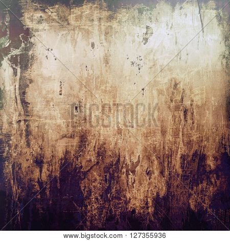 Grunge background or texture with vintage frame design and different color patterns: yellow (beige); brown; gray; purple (violet); black; white