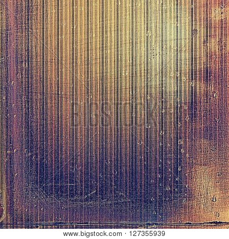 Highly detailed scratched texture, aged grungy background. Vintage style composition with different color patterns: yellow (beige); brown; red (orange); gray; purple (violet); pink