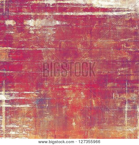 Old school elements on textured grunge background. With different color patterns: yellow (beige); brown; red (orange); gray; purple (violet); pink
