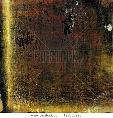 Vintage decorative background, antique grunge texture with different color patterns: yellow (beige); brown; green; gray; black