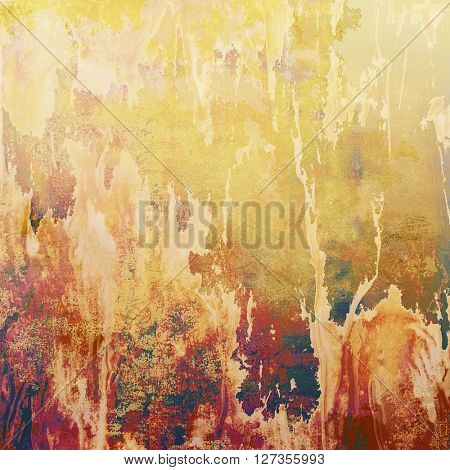 Vintage background in scrap-booking style, faded grunge texture with different color patterns: yellow (beige); brown; red (orange); gray; purple (violet); pink