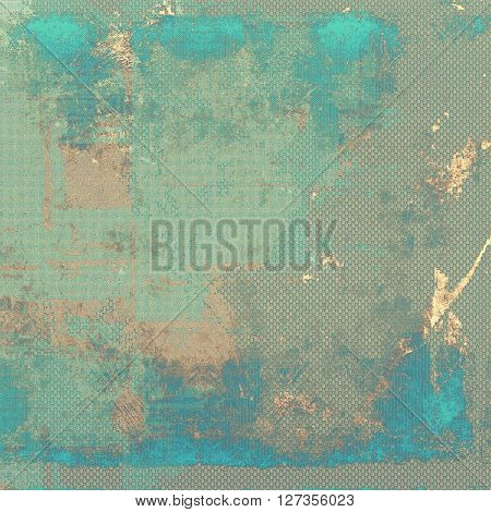 Old grungy stylish composition, vintage texture with different color patterns: yellow (beige); brown; green; blue; gray; cyan