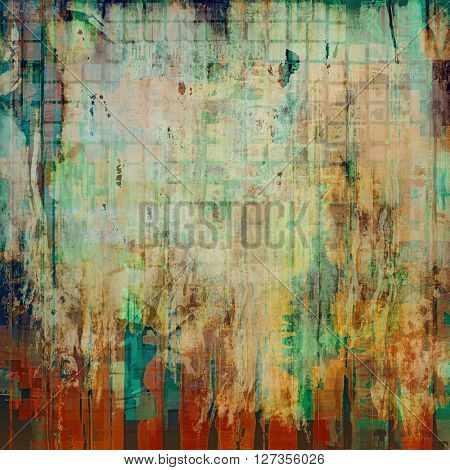 Elegant vintage background, antique texture. Designed grunge template with different color patterns: yellow (beige); brown; green; blue; red (orange); gray