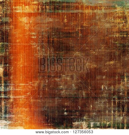 Old vintage backdrop. Original background or aged texture with different color patterns: yellow (beige); brown; green; red (orange); gray