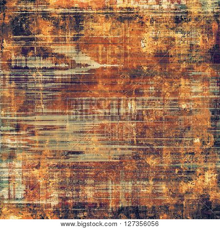 Creative vintage surface texture, close up grunge background composition. With different color patterns: yellow (beige); brown; red (orange); gray; purple (violet); black