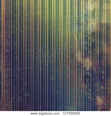 Vintage style designed background, scratched grungy texture with different color patterns: brown; green; blue; purple (violet); black