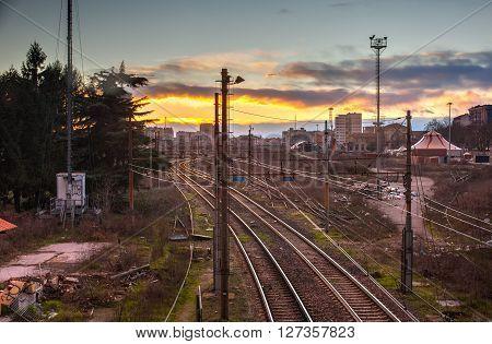 View of Porta Romana railway tracks in Milan