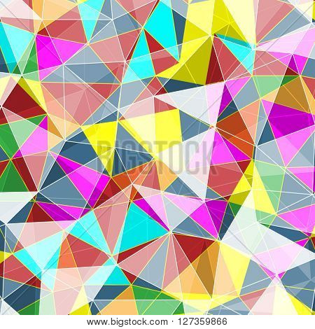 Colored Abstract Geometric Background. Illustration. Vector EPS10
