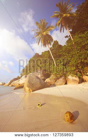 Malaysian beach Nature Sight Views Serene Concept