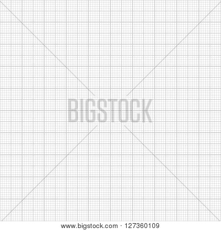Grey millimeter paper vector image seamless background
