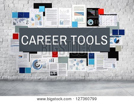 Career Tools Employment Hire Human Resources Concept