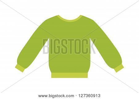 Glamour green girls blouse vector design. Elegant cotton blouse with long classic sleeves. White womans fashion female shirt with long sleeves glamour clothing style vector illustration. blouse