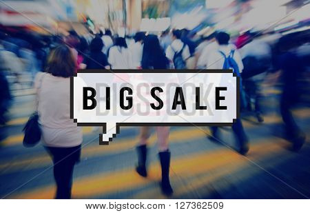 Big Sale Commerce Discount Offer Promotion Concept