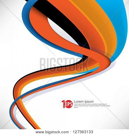 twisting lines elements design material background. eps10 vector