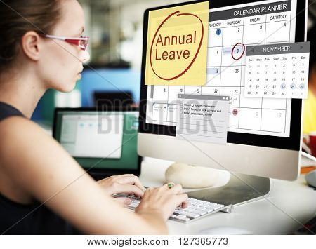 Annual Leave Schedule Planning To Do List Concept