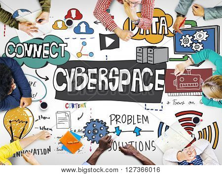 Cyberspace Internet Online Virtual Digital Technology Concept