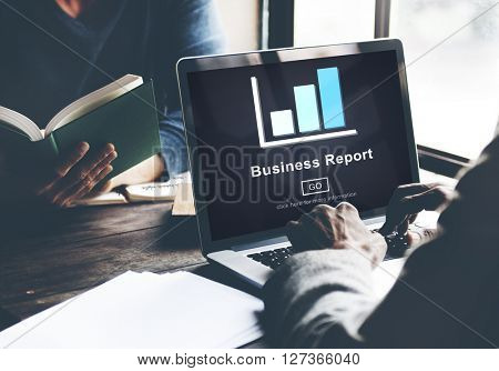 Business Report Analytics Analysis Statistics Concept