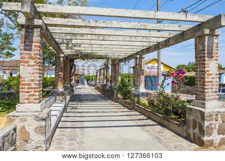 GRANADA NICARAGUA - MARCH 20 : Street view of Granada Nicaragua on March 20 2016. Granada was founded in 1524 and it's the first European city in mainland America