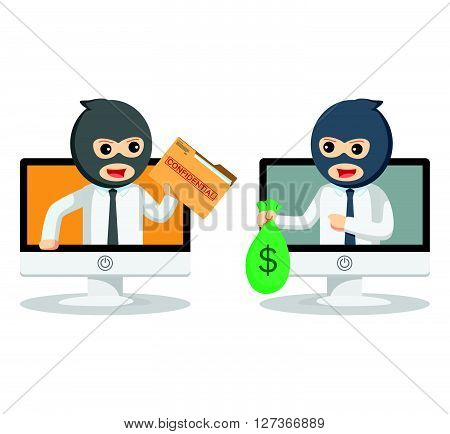 Business man bad transaction  .eps 10 vector illustration flat design