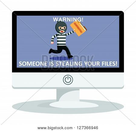 Stealing file illustration  .eps 10 vector illustration flat design