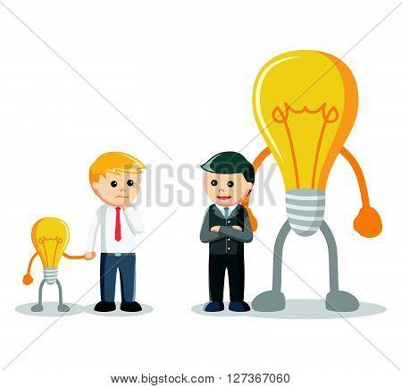 Idea negotiation illustration  .eps 10 vector illustration flat design