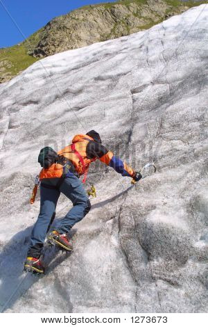 Eis Klettern Männer