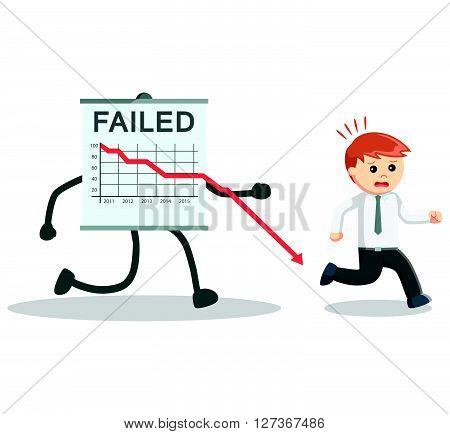 Business man failed arrow  .eps 10 vector illustration flat design