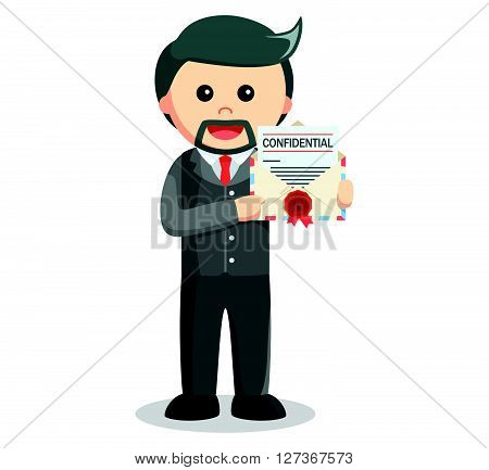 Business man confidential mail  .eps 10 vector illustration flat design