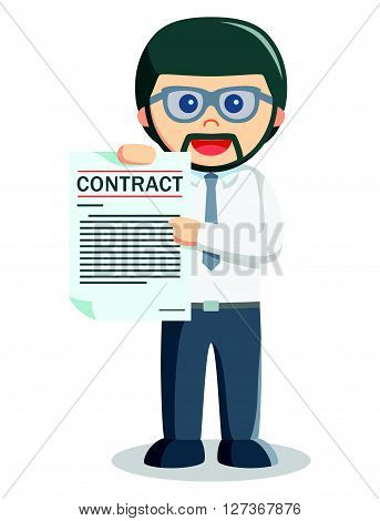 Business man news for hiring employee  .eps 10 vector illustration flat design