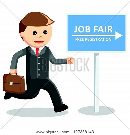 Business man job fair  .eps 10 vector illustration flat design
